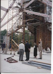 The construction of the present Sanctuary in 1992