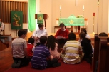 Teaching the children in the Sanctuary