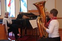 L'elephant (the elephant) from Le carnaval des animaux by Saint Saens, played by Barbara (tuba) and Pamela (piano)