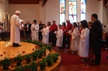 The liturgy of Confirmation in the Sanctuary