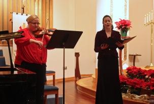 Vanessa Nagdhi(soprano) and Marian Kshetrapal (violin)