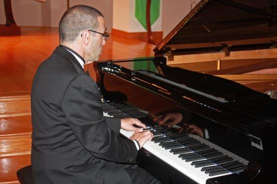 Alexander Paley at the piano
