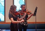 Palm Sunday 2016 Caitlin Hunt Zuzu Brown violins
